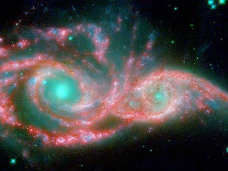 Thiên hà NGC 2207 và IC 2163